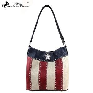 Montana West Texas Pride Collection Handbag 2 in 1 85c1d761ba